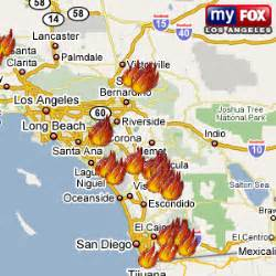 southern california fires today map california fires map california map