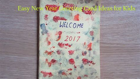 free card ideas for children to make new year greeting card ideas for how to make