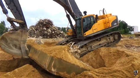 volvo  excavator  incredible machine youtube