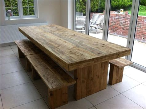 handmade kitchen table dining table with benches large