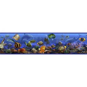 room borders the sea wallpaper border room wall decor fish