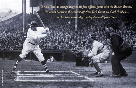 baseball history in 1935 the babe s bittersweet bow out