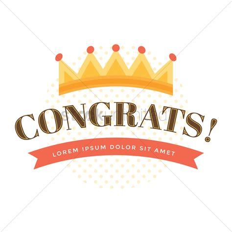 congratulations design vector image  stockunlimited