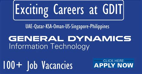 General Dynamics Mba Internship by Exciting Careers At Gdit General Dynamics Information