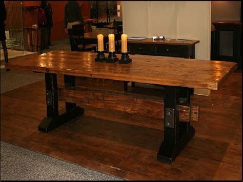 plank dining room table reclaimed wood dining room table