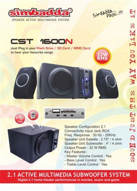 Speaker Aktif Simbadda Cst 1600n jual simbadda cst 1600n butik dukomsel
