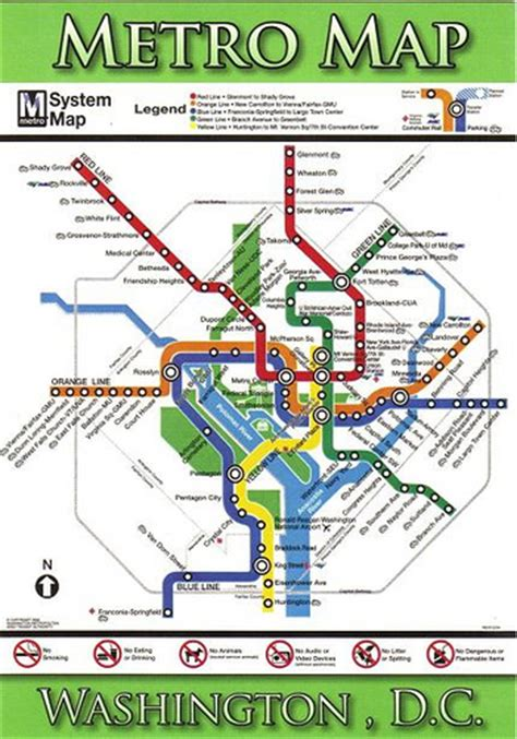 washington dc tourist map with metro stops washington dc metro map postcard 2007 kotarana flickr
