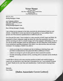Cover Letter For Sales Associate by Salesperson Marketing Cover Letters Resume Genius