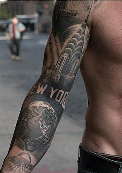 quarter sleeve tattoo pain new york sleeve tattoo ideas for men tats pinterest
