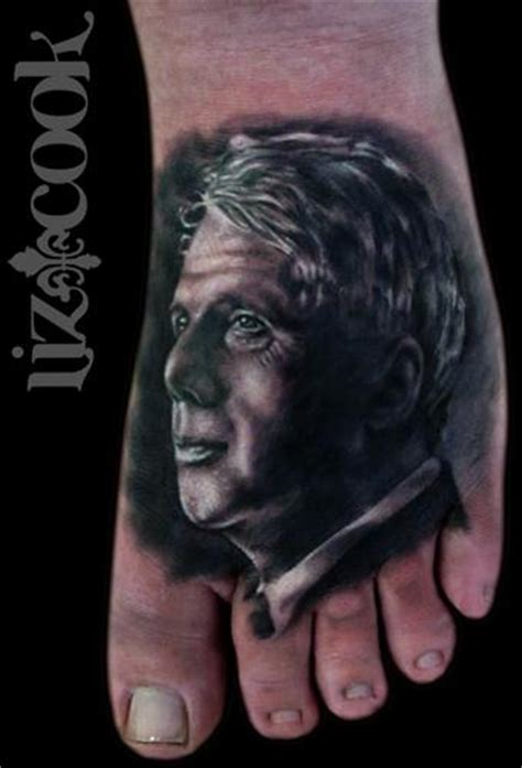robert frost tattoo liz cook tattoos realistic robert portrait