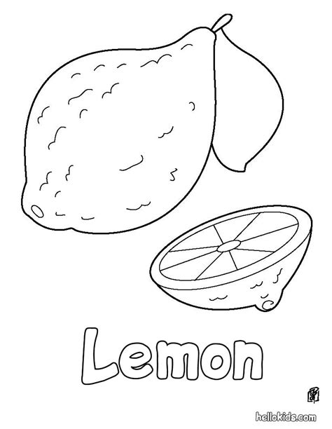 lemon tree coloring page lemon coloring pages hellokids com