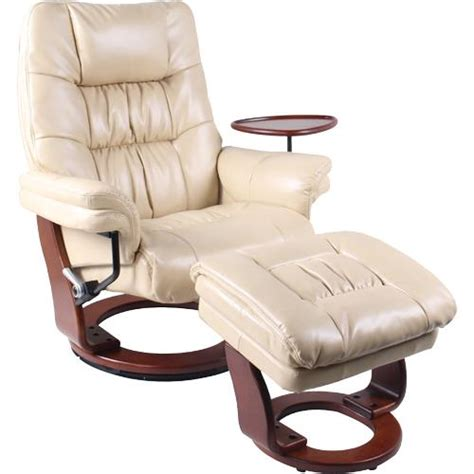 Reclining Chair With Footstool by Benchmaster 7580wto30a 008rf Swivel Reclining Chair With Storage Ottoman Caramel 155 Degree