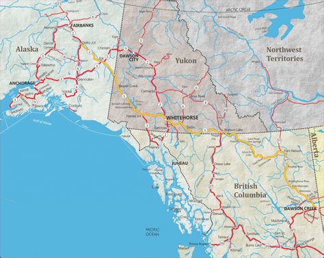 where is alaska on a map alaska maps of cities towns and highways