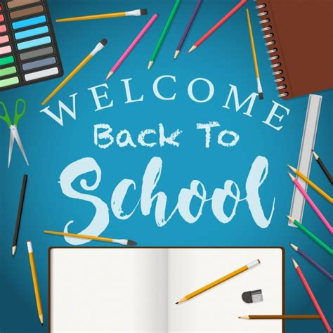 back to school background welcome back to school background vector free