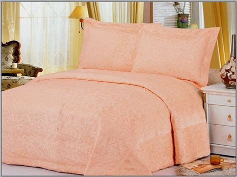 salmon colored bedding odessa salmon salmon colored light fabric bedcover with