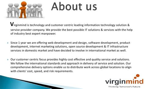 information technology company profile template web development company virginmind technologies company