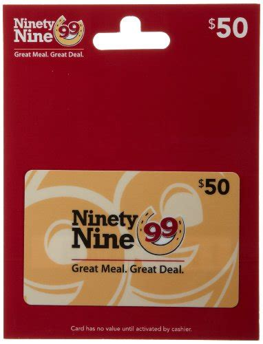 Restuarant Gift Cards - ninety nine restaurants gift card 50 shop giftcards