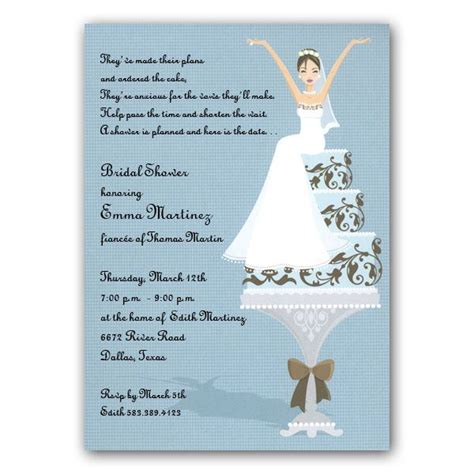 Bridal Shower Invitations Free by Wedding Cake Bridal Shower Invitations Paperstyle