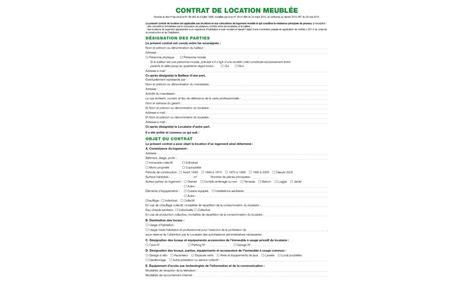 mod鑞e bail chambre meubl馥 chez l habitant bail de location meuble pdf bail meubl dur e immobilier