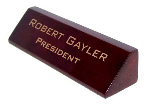 Desk Name Bar by Wood Engraved Desk Name Bar