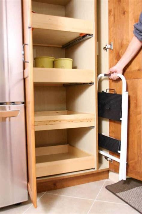 designating space  stepping stool ladder storage