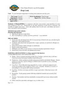 sle resume of cook cook description for resume sainde org sle line