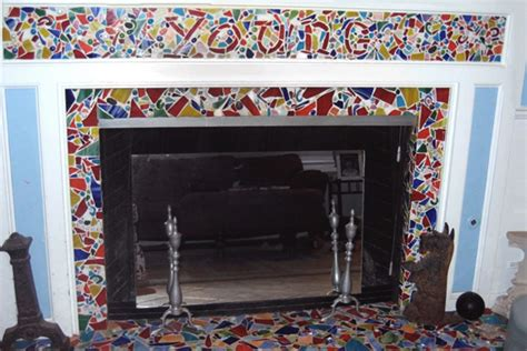 Fireplace Mosaic by Pin Mosaic Tile Fireplace Popeye Goons On