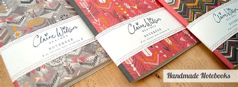 Handmade Notebooks Uk - wilson designs beautiful products designed with