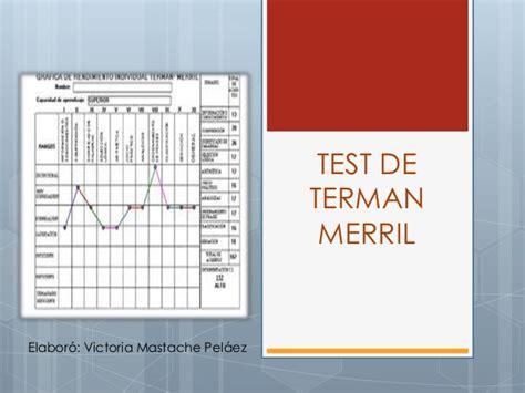 autolen test test de terman merril