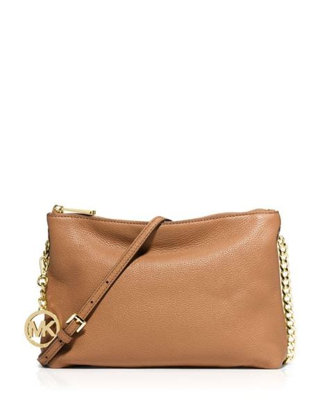 Michael Kors Messenger Crossbody Sign Brown michael michael kors brown jet set chain messenger bag lyst