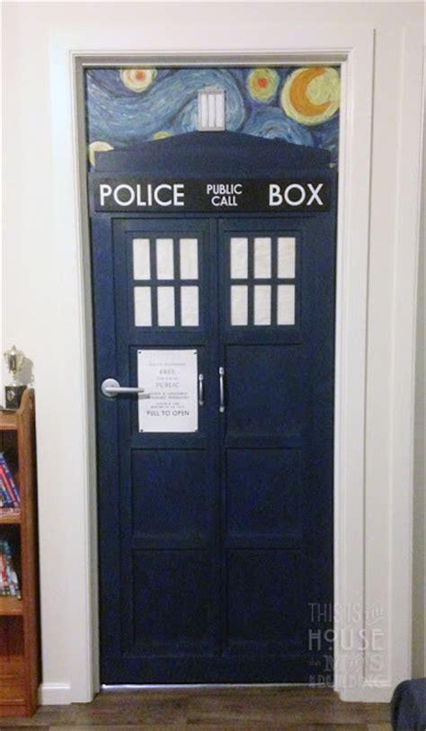 doctor who bedroom door m s are building tardis door