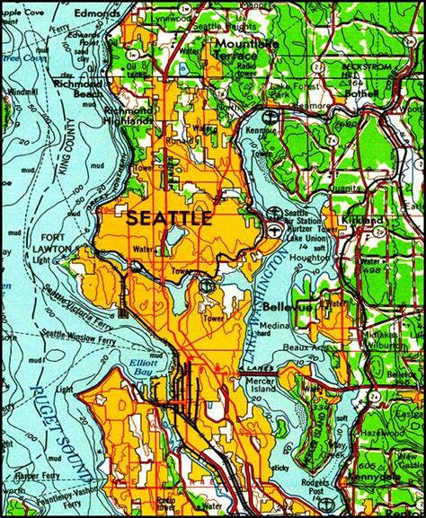 seattle map elevation seattle map map of seattle topo map pacific west