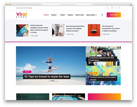 news site template free 20 free news website templates that follows leading news