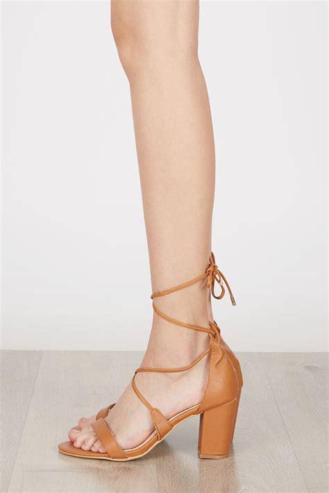 Sendal High Heels T53 Brown sell maryse block heels brown high heels berrybenka