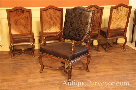 dining room arm chairs upholstered brown luxurious hair hide upholstered dining room arm chairs ebay