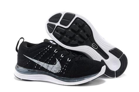 nike flyknit lunar 1 mens black white running shoes sale