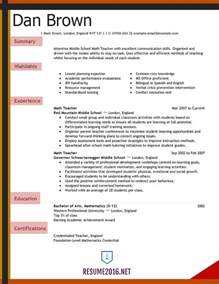 Resume Picture Examples Teacher Resume Examples 2016 For Elementary School