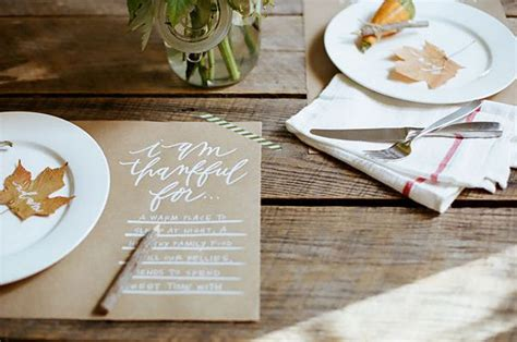 Craft Paper Placemats - the complete guide to the best thanksgiving table