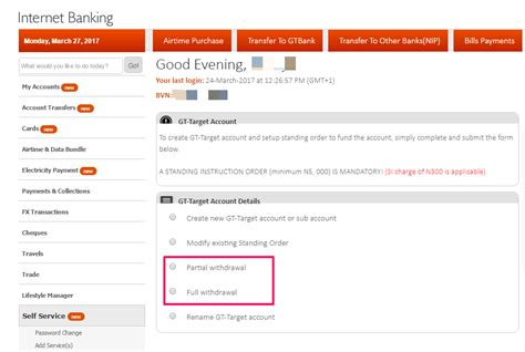 can i make a withdrawal without my debit card how to withdraw from gtbank target savings account