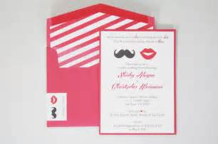 co ed bridal shower invitations mustache