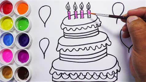 imagenes niños dibujos como dibujar y colorear una torta de cumplea 241 os dibujos