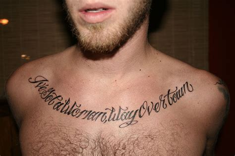 chest quote tattoos ink quotes quotesgram