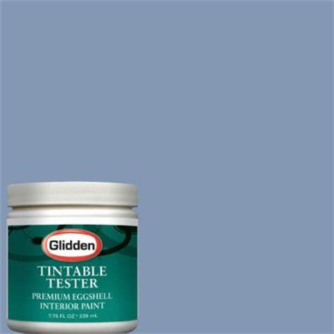 glidden premium 8 oz steel blue interior paint tester glb21 d8 the home depot