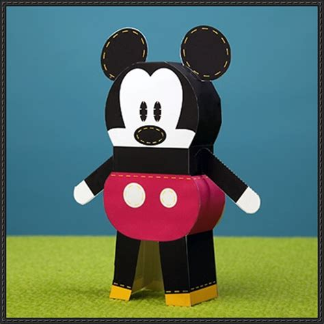 mickey mouse crafts for mickey papercraftsquare free papercraft
