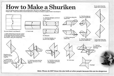 How To Make A Paper Shuriken Easy - fold origami shuriken 171 embroidery origami