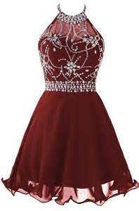 wine red ocassion dresses backless short prom dress