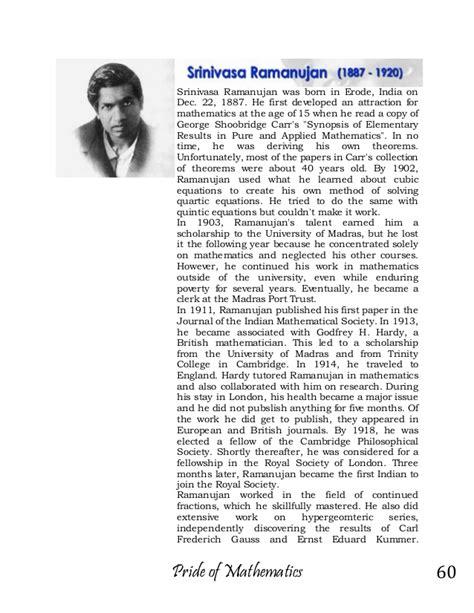 ramanujan biography in english list of mathematician