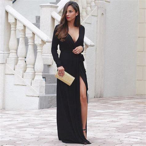 Longdress Alissa dress black black maxi black maxi dress dress