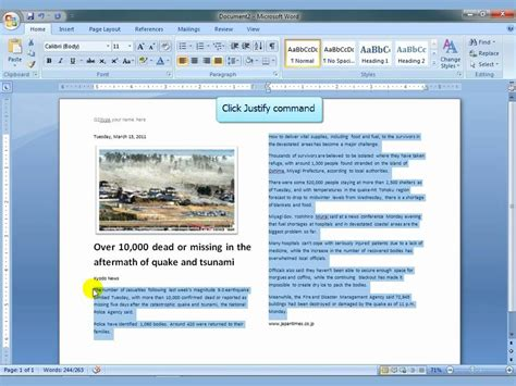 journal layout in microsoft word ms word 2007 newspaper columns mp4 youtube