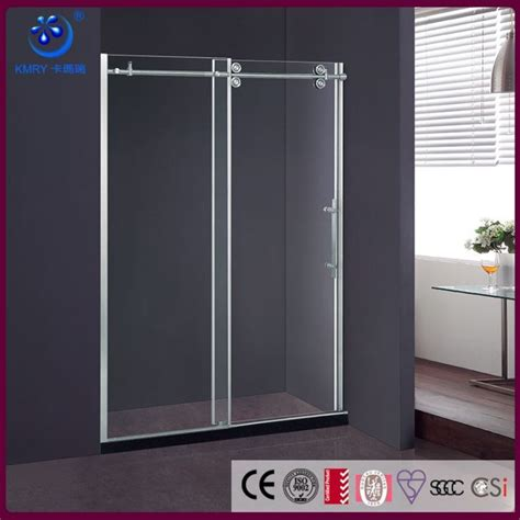 Sliding Glass Door Brands The Best Custom Frameless Sliding Glass Shower Enclosure 36 In D X 48 In W 3 8 To 1 2 Quot Glass